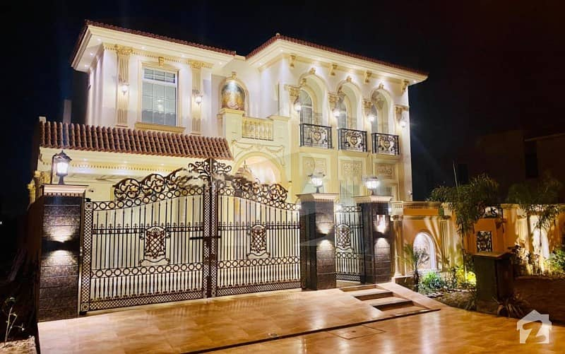 100 Ft Road Full Furnished Spanish 1 Kanal Brand New Bungalow For Sale