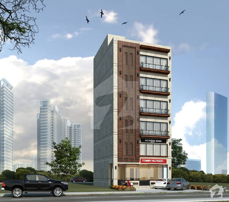 Fully Automatic Executive Flat For Sale Facing Boulevard Green Belt Near Macdonald And Rainbow Store