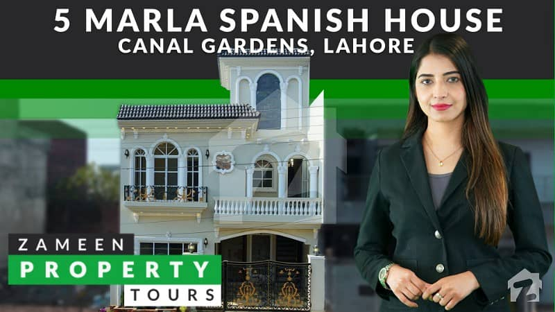 5 Marla Brand New Luxury House For Sale In Block AA Canal Garden