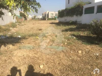 Dha Phase 6 Urgent Sale Back Of Main 1 Kanal Residential Plot  342 Block F