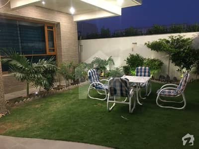 A Zone Fully Burma Teak  West Open 100 Owner Built 500 Sq Yards Bungalow With Basement Available For Sale