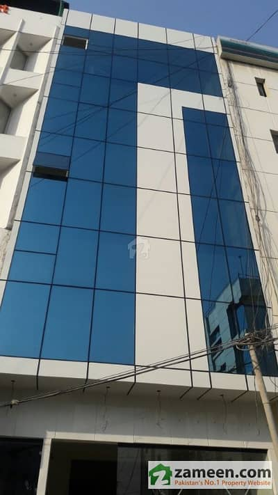 100 Square Yards Outclass Glass Elevation Building At Khyaban E Nishat In Ittehad Commercial