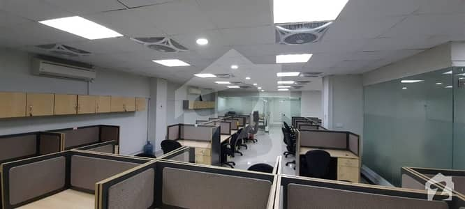 New Corporate 4700 Sq Ft Fully Furnished Office Available For Rent With All Allied Facilities
