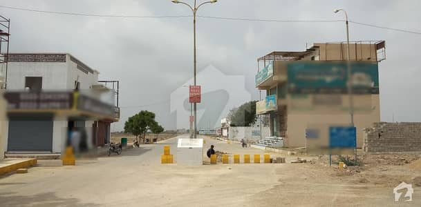 Two Commercial Plot With Boundary Wall And Are Available For Sale In Sector 4 A Gulshan-e-meharan Society At Main Motor Way Facing 650 Feet Wide Road