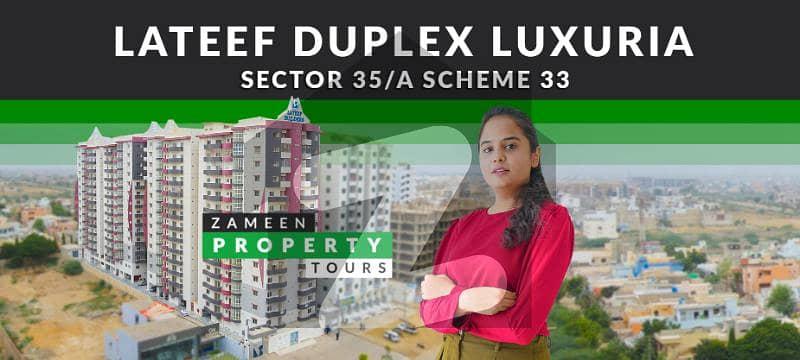 لطیف ڈوپلیکس لکسوریا سکیم 33 - سیکٹر 35-اے سکیم 33 کراچی میں 4 کمروں کا 12 مرلہ فلیٹ 1.8 کروڑ میں برائے فروخت۔