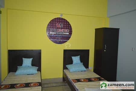 Full Furnished Room In 10 Marla Hostel Available For Rent