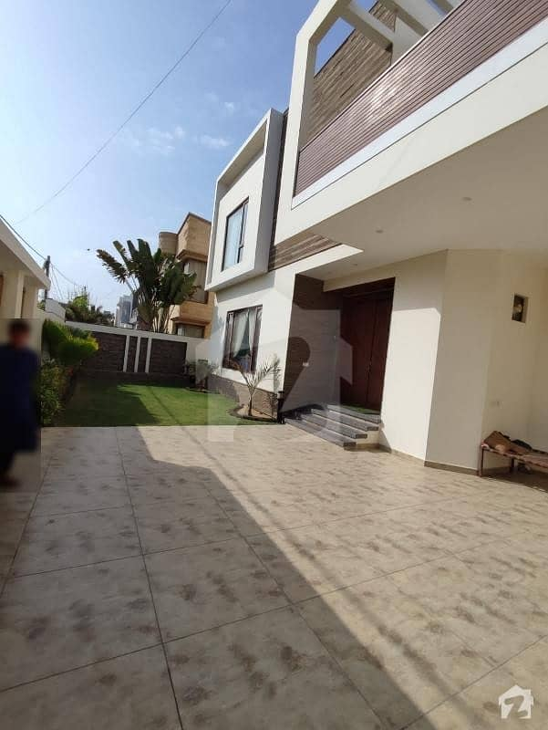 600 Yards Brand New Architect Designed Bungalow With Pool Basement