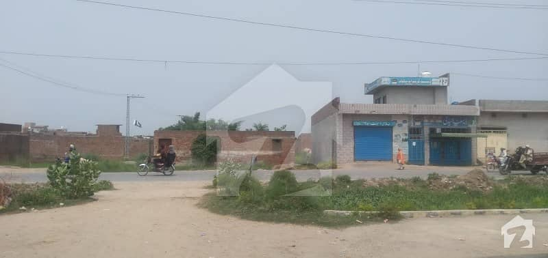 Commercial Plot For Sale Area 22 Marla In Addian Road Rana Town Par Marla 8 Lakh