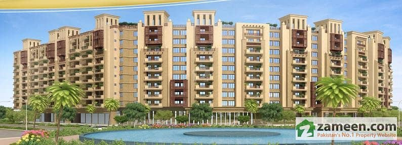 2 Bed Flat Drawing Apartment For In Bahria Enclave Abad At 4 Tears Quarterly Installment