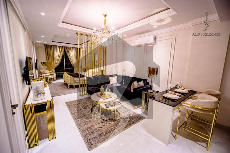 One Bed Semi Furnished Apartment On Easy Installment Plan Available For Sale In Bahria Town Lahore