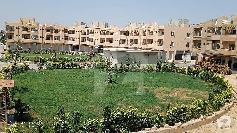 Flat For Sale In Kn Gohar Green City 2bed Lounge West Open 2side Corner Park Face