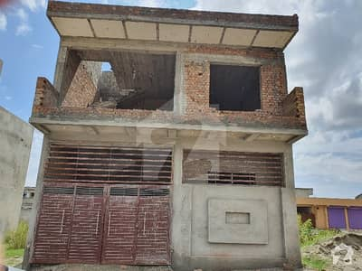 5 Marla Double Storey Grey Structure House