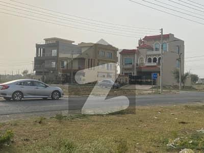 Semi Commercial Plot For Sale Area 10 Marla Facing Park 60 Feet Road In LDA Avenue - Block J On Reasonable Price