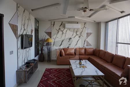 Dha Phase 8  M Block Fully Furnished Penthouse  Tv Lounge Drawing Dinning  Kitchen With All Accessories