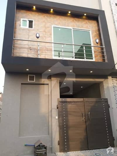 Brand New House 2.5 Marla Double Storey For Sale Canal Road Eden Garden Society Boundary Wall