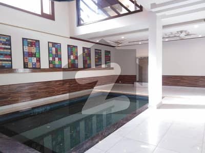 500 Sq Yard Brand New Bungalow For Sale With Pool And Basement