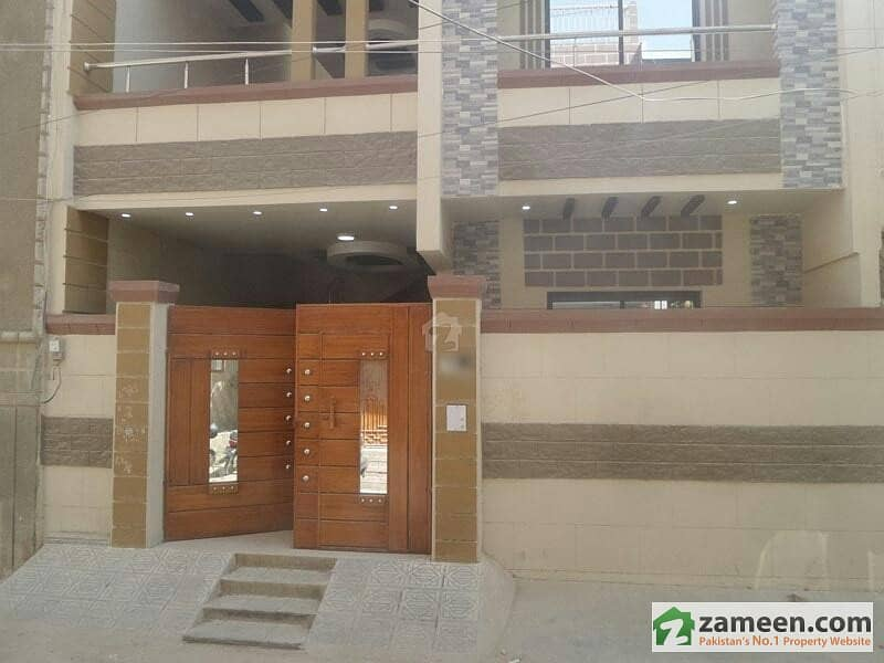 New 120 Sq  Yards Ground Plus One House For Sale North Karachi