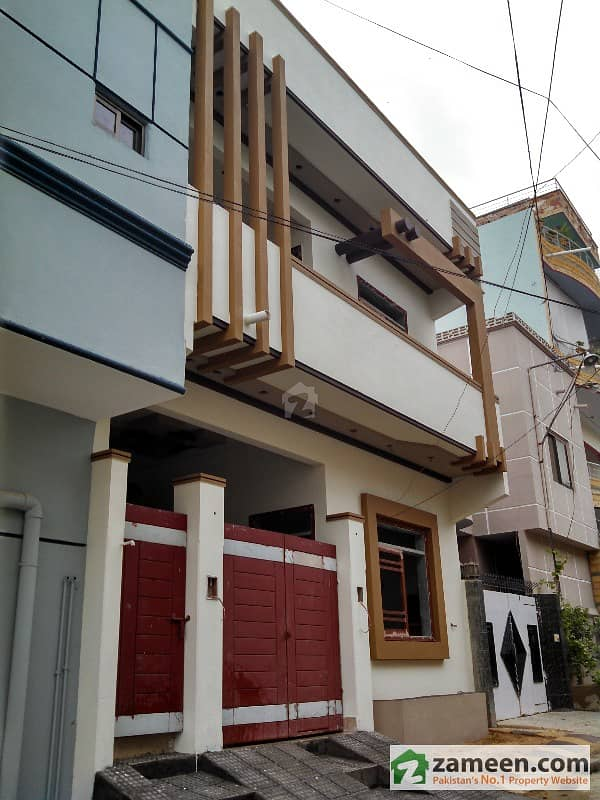 Front Elevation Of 120 Yards Houses : Sq yard bungalow in gulistan e johar block
