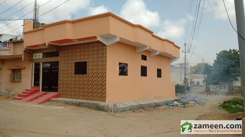 120 Sq Yds Leased RCC  3 Corner House for immediate sale