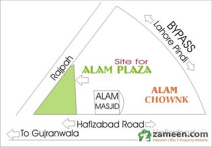 72 Marla Plot for Sale at Alam Chowck, Gujranwala