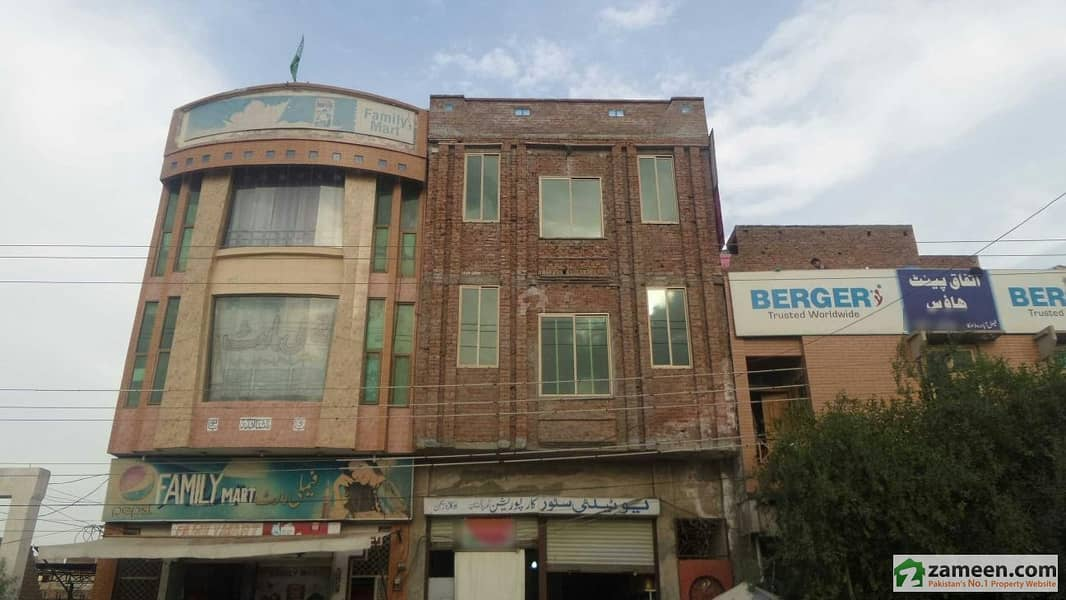 Triple Storey Commercial Building 3rd Floor Available For Rent At Main Faisalabad Road Okara