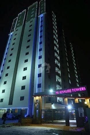 Flat In Al Khaleej Towers Located Yaseenabad Block 8 Near Gulshane Shamim Federal B Area