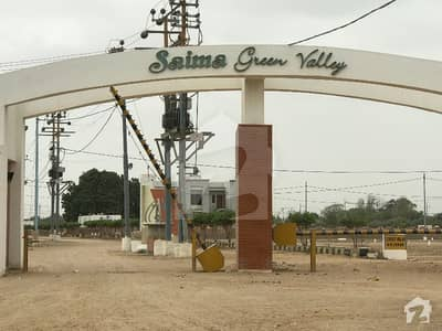 120 Sq Yd Plot For Sale In Saima Green Valley