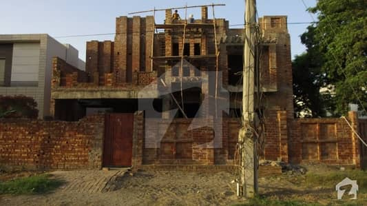 Grey Structure Corner House Arabic Style For Sale 21 Marla Best For Investment