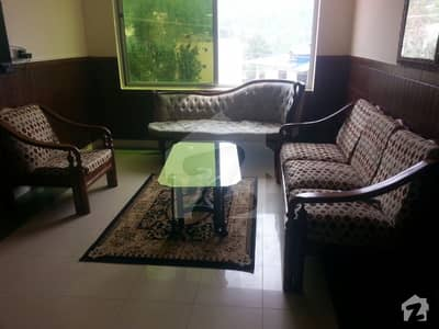 2 Bed Rooms Full Furnished Apartment With Living Room Kitchen Covered Car Parking And View Of Kashmir Hills