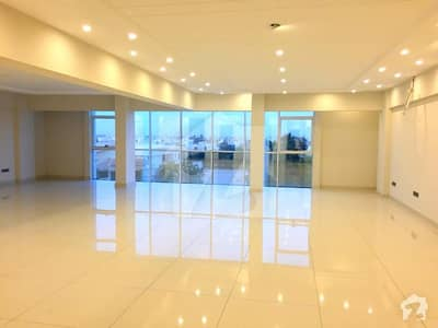 High End 1st Full Floor Brand New Glass Elevation On A Wide Road At Nishat Commercial