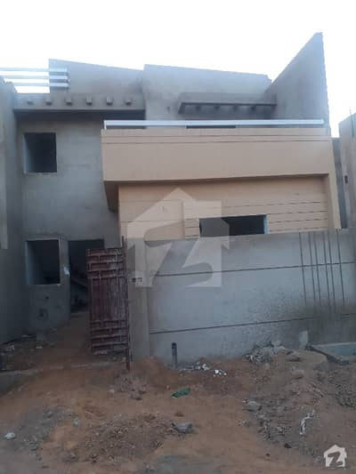120 Yards One Unit Double Storey Corner  House For Sale