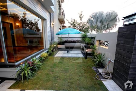 DHA Lahore 10 Marla Brand New Modern Design House With Basement Servant Quarter For Sale Near to Park Sector Shops and Ring Road