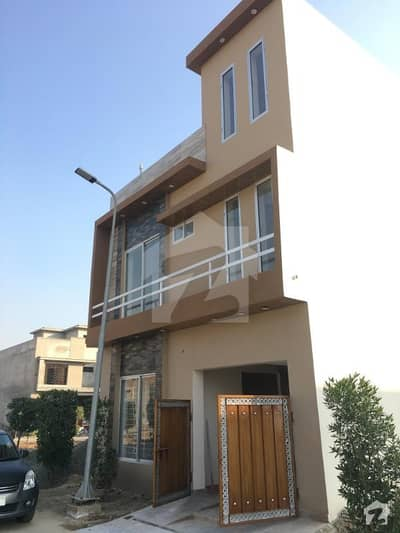 3 Marla Brand New Facing Park House For Sale In Al Kabir Town Phase 1 Opposite Bahria Town Lahore
