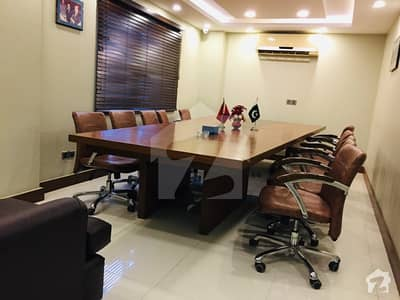 FULL FURNISHED 1995 SQUARE FEET OFFICE SPACE AVAILABLE FOR RENT AT MOST PRESTIGIOUS LOCATION OF BUKHARI COMMERCIAL AREA