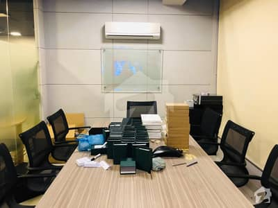 FULLY FURNISHED 2040 SQUARE FEET OFFICE SPACE AVAILABLE FOR RENT AT SMALL SHAHBAZ COMMERCIAL AREA PHASE 6