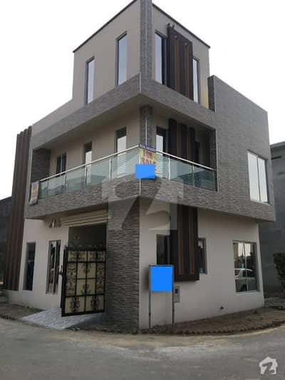 3 Marla Corner Brand New Double Unit House For sale in AL Kabir Town Phase 1 opposite Bahria Town Lahore Hot Location Area