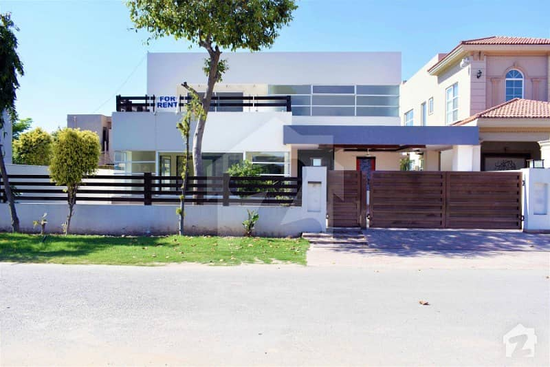 Facing Park One Kanal Brand New Luxury Bungalow Near Community Center Prime Location