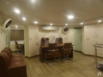 Fully Furnished Ground + Mezzanine Floor For Rent In DHA Big Shahbaz Commercial Phase 6