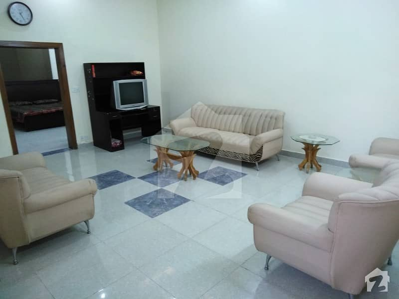 Furnished 10 Marla Basement Portion Is Available For Rent In Bahria Town Phase 8 Block E