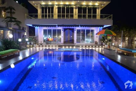 Syed Brothers Offer 2 Kanal Brand New Fully Furnished Luxury Bungalow With Swimming Pool For Rent