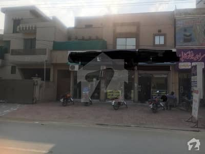 Semi Commercial 10 Marla Home With Shops For Sale On Main Al Mansoor Road