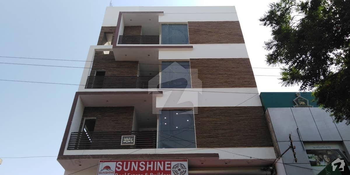 گلشنِ معمار گداپ ٹاؤن کراچی میں 3 کمروں کا 8 مرلہ فلیٹ 1. 25 کروڑ میں برائے فروخت۔