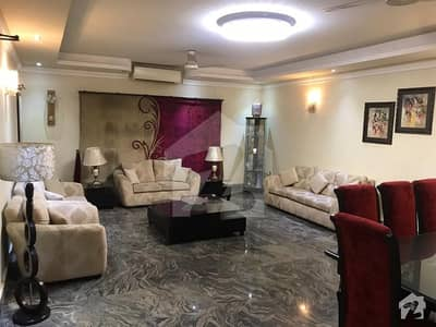 1 Kanal Beautiful House Fully Furnished Lower Portion with 3 beds available for rent in state Life society Lahore