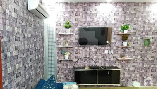 Luxury Furnished One with TV Lounge Flat For Rent in Bahria Town Lahore