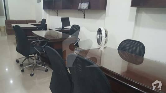 Fully furnished office available for rent Clifton shaheen center