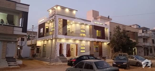 120 Sq Yards Corner West Open Brand New Ultra Luxury Modern Double Storey Bungalow Is Available For Sale In Block 3 Saadi Town
