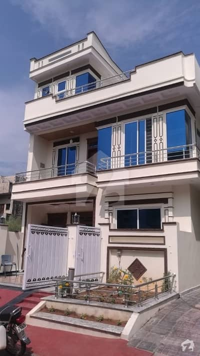 New House Is Available For Sale Second Corner To Park And Markaz
