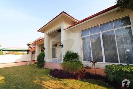 Brand New Classical Spanish Design 2 Kanal Double Unit Furnished Fully Basement Bungalow For Sale