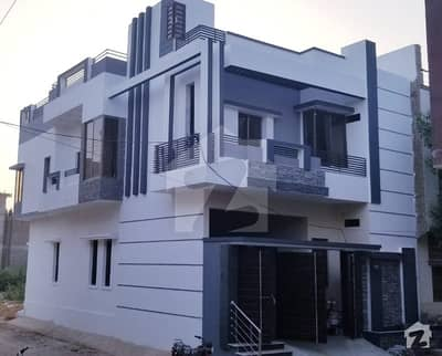 Corner Brand New Double Storey Bungalow Is Available For Sale In Mir Hussaaina Abad Hyderabad