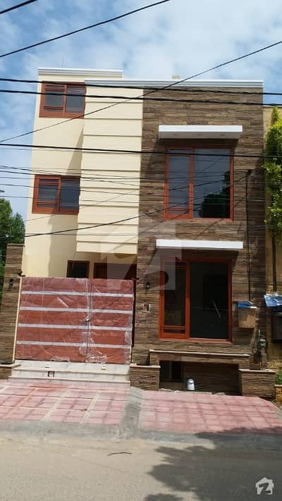 100 Sq Yard West Open Brand New Outclassed House For Sale